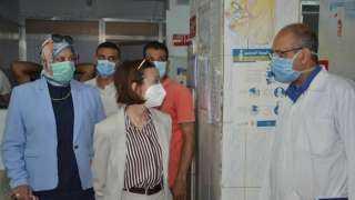 نائب محافظ الإسكندرية تتفقد مستشفى فوزي معاذ للأطفال