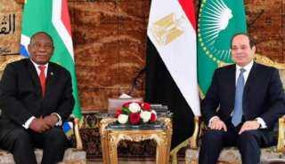 الرئيس السيسي يبحث تطوير العلاقات مع جنوب أفريقيا في مختلف المجالات