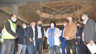 إيناس عبد الدايم تتابع تنفيذ أعمال تطوير متحف الجزيرة للفنون