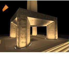 المتحف المصرى الكبير ينتهى من إقامة أول مسلة معلقة فى العالم
