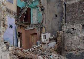 سقوط أجزاء من عقار بحي غرب الإسكندرية