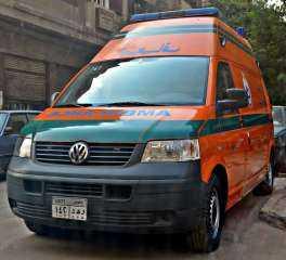 الدفع بـ 20 سيارة إسعاف لنقل المصابين للمستشفيات بحادث انقلاب قطار طوخ