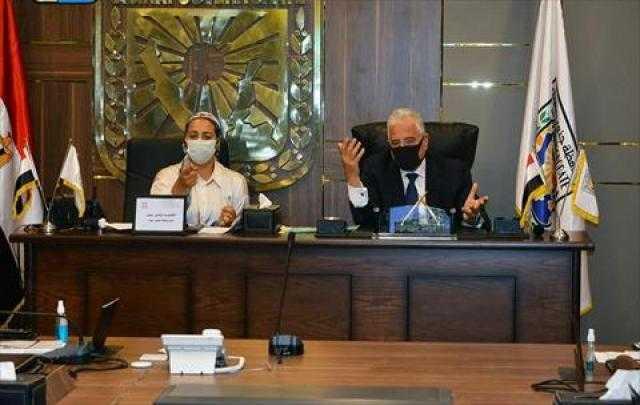 خالد فودة يتابع مراحل تنفيذ المشروعات المقرر افتتاحها في عيد تحرير سيناء