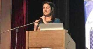 ماريان عازر تتحدث عن النجاح في مجال هندسة الاتصالات في مؤتمر ArabWiC الدولي
