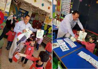 برعاية حزب مصر الحديثة توزيع الشنط المدرسية على تلاميذ مدارس المحلة